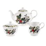 Portmeirion Holly & Ivy 3 Piece Tea Set