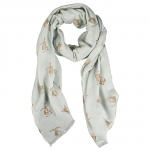 Wrendale Designs Scarf - Leaping Hare Green Scarf