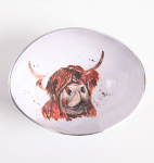 Meg Hawkins Highland Cow Oval Bowl 18cm