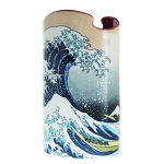 Silhouette d'art Vase - Hokusai - The Great Wave