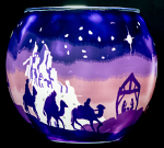 Benaya Holy Night Light Glass Tealight Holder