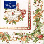 Villeroy & Boch - Napkins - Cocktail - Christmas Bakery Cookies