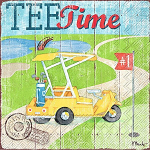 IHR - Napkins - Cocktail - Tee Time Golf Buggy