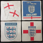 England Football Vintage Coasters