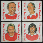Manchester United Football Club Legends Vintage Coasters