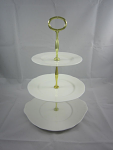 Duchess China White - 3 Tier Cake Stand