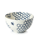 Burleigh Ink Blue Pollen Mini Footed Bowl 12cm