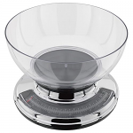 Judge 5kg Chrome Kitchen Scale with Clear Bowl