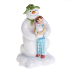 Beswick The Snowman Kneeling with Billy and The Snowdog