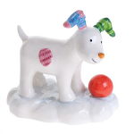 Beswick The Snowdog Playing in the Snow