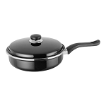 Judge Induction Black 24cm Saute Frypan with lid