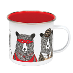 Jimbob Art - Enamel Mug - Bear Family