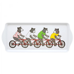 Jimbob Art - Sandwich Tray Melamine - Bears Riding Bikes