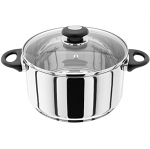 Judge Essentials Stainless Steel Large Casserole 24cm 4.3L Induction Ready