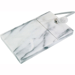 Judge Marble Cheese Board & Cutter White