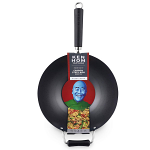 Ken Hom Excellence Non-Stick Mini Wok Carbon Steel Black 31cm