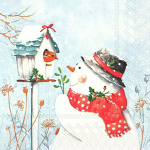 IHR - Napkins - Luncheon - Keep You Warm and Lovely Snowman Robin