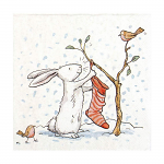 Anita Jeram - Napkins - Luncheon - Charming Snow Rabbits