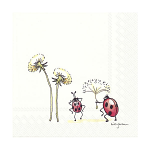Anita Jeram - Napkins - Luncheon - Happy Go Lucky Ladybird