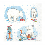 Anita Jeram - Napkins - Luncheon - Icy Christmas For You