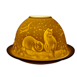Light Glow Cats at Night Tealight Candle Holder