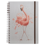 Wrendale Designs - A4 Pretty in Pink Flamingo Spiral Bound Notebook
