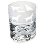 Animo Glass - Labrador Dog Whisky Tumbler