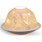 Light Glow Forest Angels Tealight Candle Holder