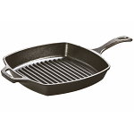 Lodge Square Cast Iron Grill Pan Fat Free Fryer 10.5in