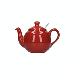 London Pottery Farmhouse Filter Teapot 2 Cup Red