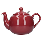 London Pottery Farmhouse Filter Teapot 6 Cup Red