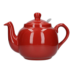 London Pottery Farmhouse Filter Teapot 4 Cup Red