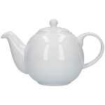 London Pottery Globe Teapot 6 Cup White