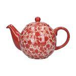 London Pottery Splash 2 Globe Cup Teapot - Red