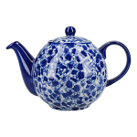 London Pottery Splash 4 Cup Globe Teapot - Blue