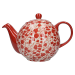 London Pottery Splash 4 Cup Globe Teapot - Red