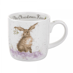 Royal Worcester Wrendale Designs - Christmas Mug - Hare - The Christmas Kiss
