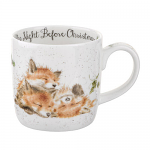 Royal Worcester Wrendale Designs - Christmas Mug - Fox Cubs - The Night Before Christmas