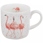 Royal Worcester Wrendale Designs - Mug - Flamingo - Pink Ladies
