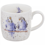 Royal Worcester Wrendale Designs - Mug - Budgie Budgerigar - Date Night