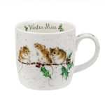 Royal Worcester Wrendale Designs - Christmas Mug - Winter Mice