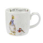 Royal Worcester Wrendale Designs - Christmas Mug - All Wrapped Up - Duck