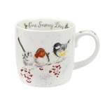 Royal Worcester Wrendale Designs - Christmas Mug - One Snowy Day (Birds)