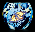 Benaya Monarch Butterfly Light Glass Tealight Holder