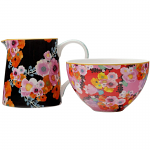 Maxwell & Williams Cashmere Bloems Sugar Bowl and Creamer Set with Printed Floral Pattern