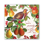 Michel Design Works - Napkins - Luncheon - In a Pear Tree