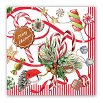 Michel Design Works - Napkins - Luncheon - Peppermint Christmas