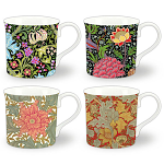 Heritage Bone China - The William Morris Collection Mugs - Set of 4 Gift Boxed