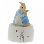 Beatrix Potter - Mrs Rabbit and Peter Ceramic Musical