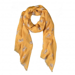 Wrendale Designs Scarf - Leaping Hare Mustard Scarf